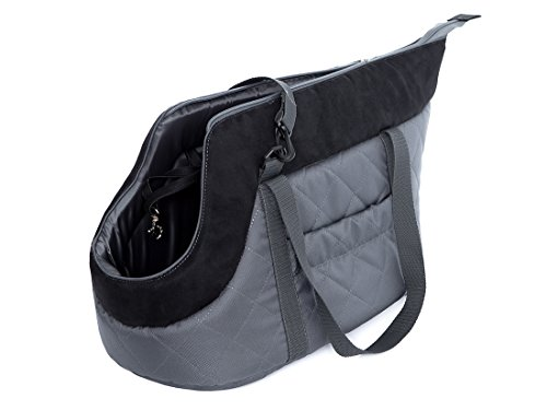Hobbydog Gate GZC6Carrier Carrying Bag Cat Carrier Size 22x 20x 36cm, Grey/Black 2