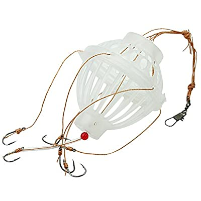 2x Sharp 6 In 1 Lantern Lure Bait Cage Barbed Explosion Fishing Hook Tackle Tool from Pinzhi