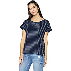 Shyla By FBB Women's Cotton Top (1000742069_Navy_X-Large)