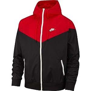 Nike Herren M NSW HE WR JKT HD Jacket Black/University Red/Sai, XS