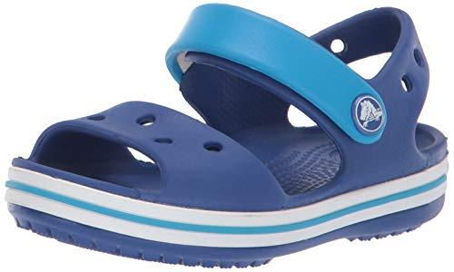 Crocs crocband sandal kids, sandali con cinturino alla caviglia unisex - bambini, blu (cerulean blue/ocean), 25/26 eu