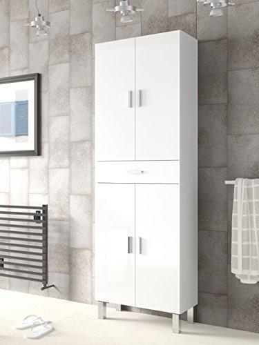 Mueble de baño o aseo con dos puertas superiores e inferiores separadas...