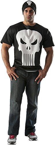 Erwachsene Punisher T-Shirt Kostüm (Punisher Kostüm Shirt)