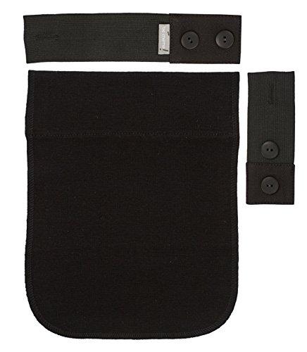 Be. Mama Kit Extender Schwangerschaftsgürtel, aus Gummi für Hose Schwarz 2bis 18cm