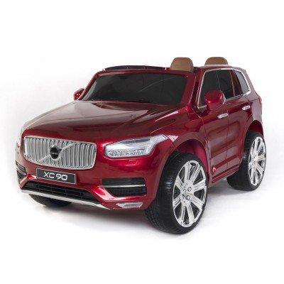 PEQUENENES Elektroauto für Kinder Volvo XC90, 2Sitzer, Metalliclack in rot, 12V, Funk 2,4GHz, Sitzfläche Leder. Weltneuheit 2017