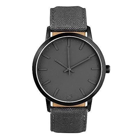 gaxs Watches Elliot O'Homme Montre bracelet noir avec bracelet Canvas (Ebel Bracciali)