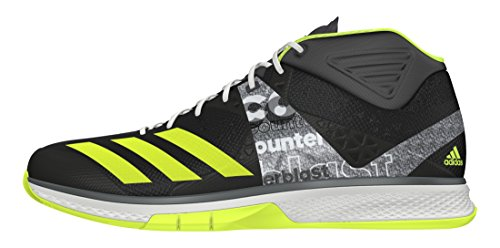 adidas Herren Counterblast Falcon Mid Handballschuhe, Schwarz (Neguti/Amasol/ftwbla), 45 EU