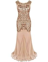 PrettyGuide Women s 1920s Black Sequin Gatsby Floor Length Evening Prom Dress