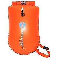 VORCOOL Natación Boya de Seguridad y Bolsa Seca Temporada para Abierto Agua (Naranja)