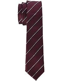 Strellson Premium Herren Krawatte 11 Tie_6.0 10004019 Rot (Dark Red 605), 6 (Herstellergröße: 1)