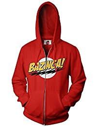 The Big Bang Theory Bazinga! Rot Erwachsene Zip Up Sweatshirt Hoodie