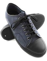 Zerimar. Zapato deportivo confeccionado en piel de alta calidad. Suela de goma. Cómodo y ligero. Color azul marino.