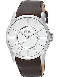 Esprit Collection para hombre-reloj analógico de cuarzo de piel de peluche EL101731F03