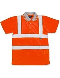 b33416c6a6bb5 RT 39E84 hornig Supertouch HI-VIS Ojo de pájaro - Polo de naranja