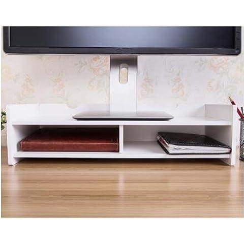 ZR Monitor stand. Aumento mensola. Mensola scrivania. Collo base del computer elevare il ripiano , b