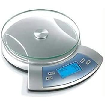 Nova 5 KG Electronic Kitchen Scale - Now with Alarm Timer / Thermometer / Blue Backlight