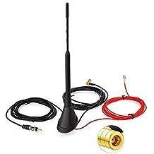 Toiot Dab/Dab+ - Antena de Radio de Coche para Montaje en Techo SMB a