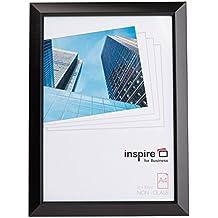 Staa4bkp - transparente A4 certificado/para fotos con diseño de/Marco en dorado mate negro sin cristal