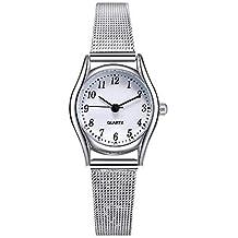 0a23664e5d3f Relojes Mujer con Correa de Malla de Plata