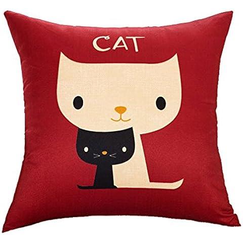 Custodia di Cuscino–Cuscino Hold Cartoon gatto, Cuscino di auto 45x 45cm