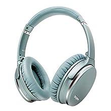 Casque Bluetooth sans Fil V5.0 à Réduction de Bruit Active Léger et Pliable, Circum-auriculaire à Charge Rapide avec Microphone CVC8.0, Méga Basse, 40H de Jeu,Srhythm NC35 (Menthe-Verte)