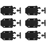 QWORK deurbout met touch-ontgrendeling, schuifgrendel met automatische pop-upfunctie Kastvergrendeling voor openen, 6st
