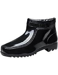 LvRao Hombres Zapatos Impermeables Tobillo Bajos Botas de Goma Botines de Lluvia Boots Cortos