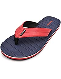 Electra Men's Navy&Red Color Thong-Style Slippers/Flip Flops