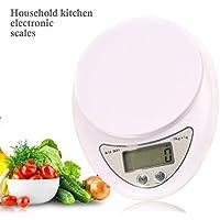 UU19EE Balanza de pesaje de 5 kg x 1g Balanza de Cocina Digital Balanza de Cocina