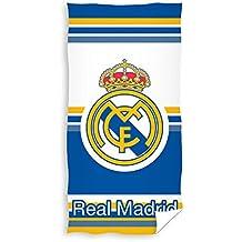 TEXTIL TARRAGO Toalla de Playa Real Madrid 70x140 Microfibra, Licencia Oficial