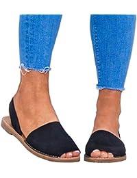c10e96dd2 Sandalias Mujeres Verano Planas Zapatos Plataforma Bohemias Playa Mares  Romanas Zapatillas Casual Elegante Alpargatas Negro Blanco