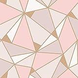 d8e5c5f22d7 Trance Géométrique Papier Peint Blush Or Rose Fine ...