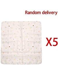 5bavoirs bébé serviette mouchoir d'alimentation salive gaze coton naturel Lovely bébé pratique