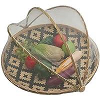 Starter,Cesta de transporte de alimentos tejida a mano para proteger alimentos y bebidas de insectos,Cesta de almacenamiento,Bambú