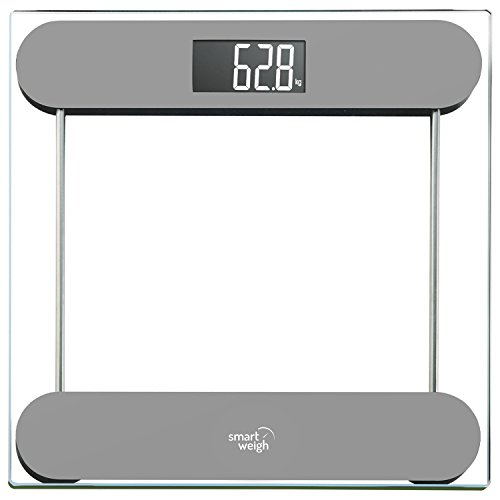 Smart Weigh Silver Precision Digital Vanity Bathroom Scale