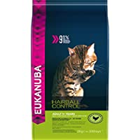 Eukanuba Dry Cat Food Adult with Hairball Control Chicken Liver, 2 Kg