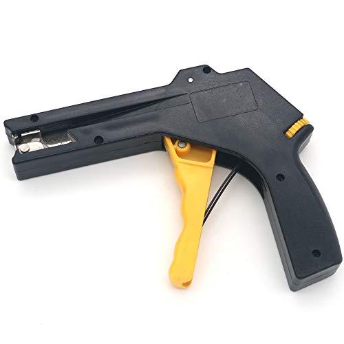 Nuzamas 2 in 1 Nylon Kunststoff Kabelbefestigung und Schneidpistole, strapazierfähige Kabelbinderpistole für Nylonbinder, Befestigung und Schneidwerkzeug