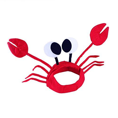 TENDYCOCO 2 Stück rote Krabben Hut Kappe lustige Partyhüte für Ostern Halloween Weihnachtsfeier