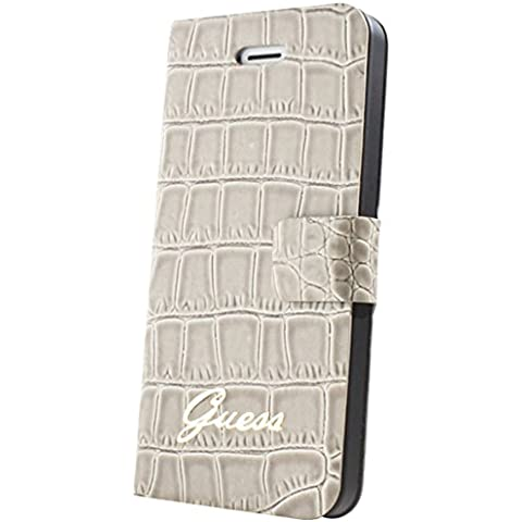 Guess Croco Rouge - Funda para móvil iPhone 4/4s, crema