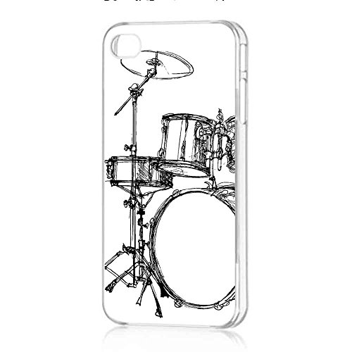 drum-set-art-sketch-cover-funda-iphone-5-5s-fall-rubber-frame-transparent-fit-para-funda-iphone-5-5s