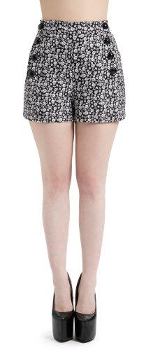 Jawbreaker Shorts BONES 'N SKULLS SRA3417 Black