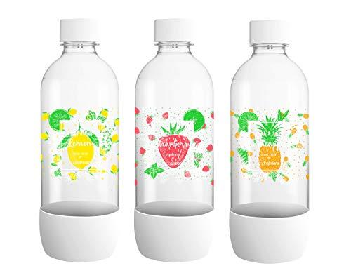 SodaStream 3er-Pack Kunststoff-Flaschen, groß 26,5 x 9 x 26 cm ,Model Sortiert