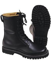 Diverse BNIB - Botas militares de estilo alemán (9 ojales, tallas de la 37 a la 47), color negro Talla:12