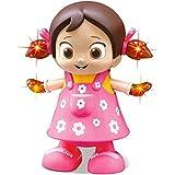 Pink Kites Kid's Plastic Toys Walking Singing Dancing Reborn Doll Toys for Baby Girls (Pink)