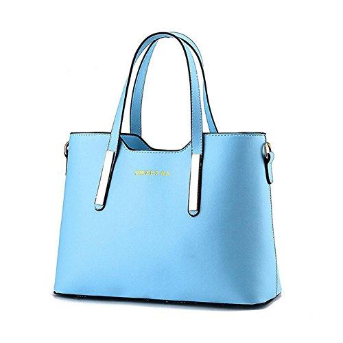 Beatayang Damen Elegant Schultertasche Handtasche Blau1