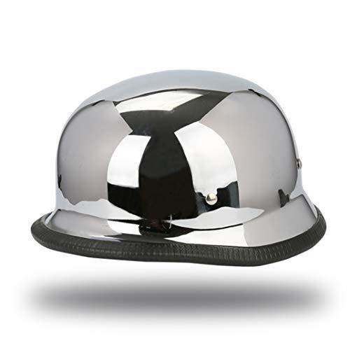 OLEEKA Mezzo casco da motociclista per omologazione DOT per attività sportive standard unisex colore nero