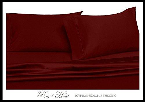 300-thread-count 3Knopfverschluß, Bettbezug Set, 100Prozent Baumwolle, Satin, 100% Baumwolle Full/Queen Burgunderfarben ()