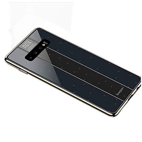 GH-Ghawk Samsung Galaxy S10+/S10 Plus Case Porsche-Stil Glas Zurück Slim Fit Weichen TPU Frame Cover Telefon Protictive Hülle