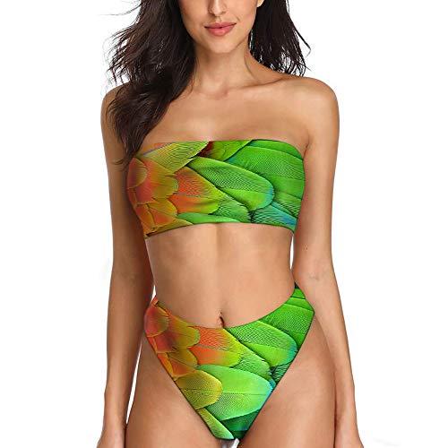 taillierte Badebekleidung Tankini trägerlos für Übergrößen Damen Bikini Set für Übergrößen ()