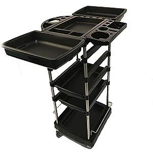 Aufbewahrungswagen Für Friseurwaren Mit 6 Regalen Friseur-Multifunktions-Haarwagen Beauty Spa Rolling Storage Cart Schwarz